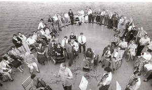 """On the deck of the ship """"Alexander Herzen"""""""