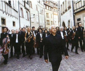 "Vladimir Spivakov and the chamber orchestra ""virtuosos of Moscow""."