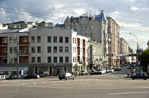 Moscow. Old houses on Ostrozhenke.