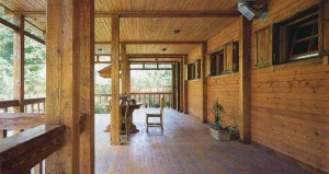 wooden veranda