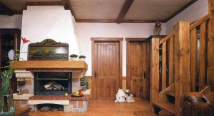 Solid wooden interior elements