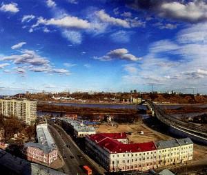 lower part of Nizhny Novgorod.