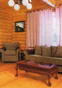 Wooden room.