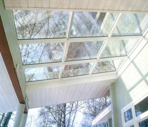 the roof of the veranda.