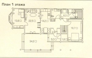 Plan 1 floor house