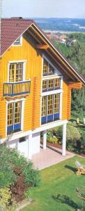 The facade  house.