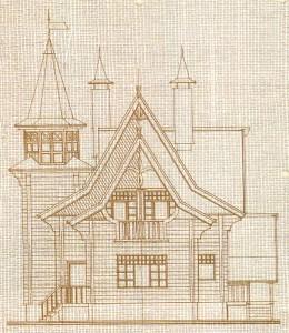 "Sketch ""Fairy houses""."