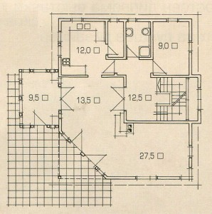 Plan 1 floor of the house of the rising sun.