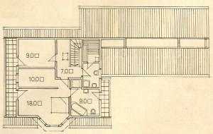 Plan 2 storey wooden house.