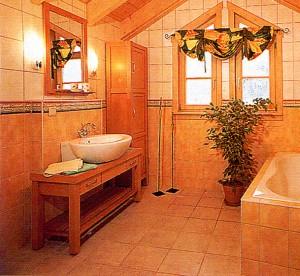 bright bathroom.