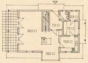 Plan 1 floor of a modern country house.