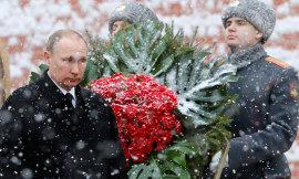 Vladimir Putin laid a wreath