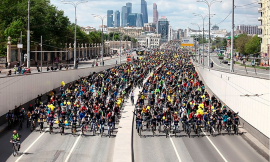 Moscow cycle parade