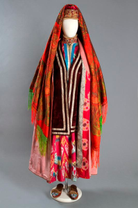Young woman festival costume. Late 19th century