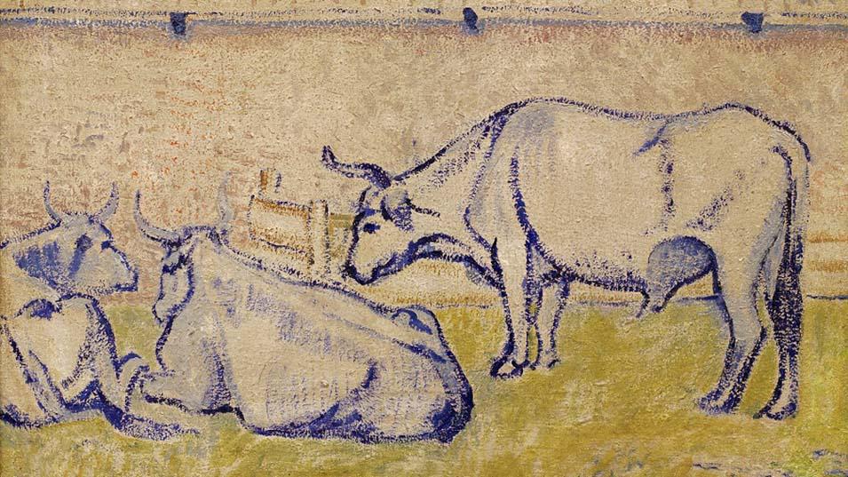 """Oxen"" (1908) by David Burliuk"