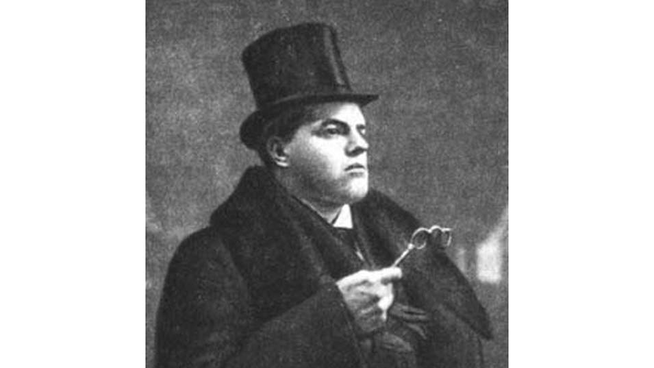 """The Futurist David Burliuk"" circa 1910"