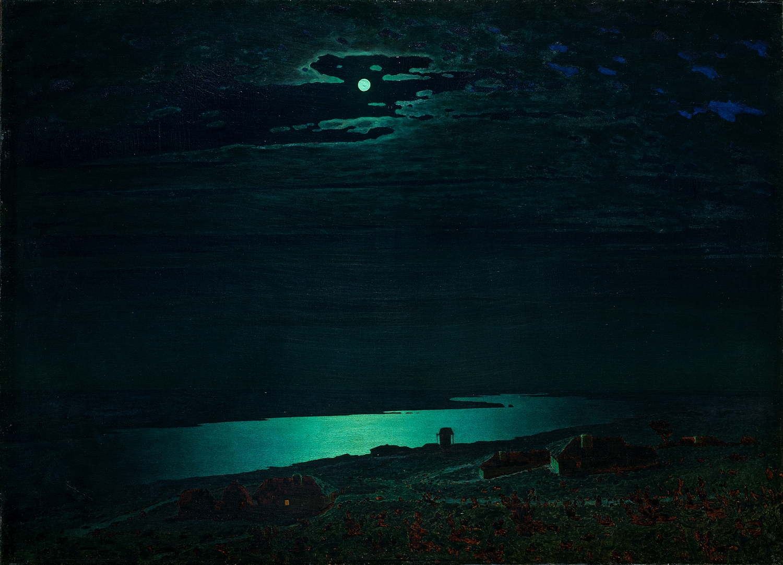 """Night on the Dnieper"" 1882 Arkhip Kuindzhi"