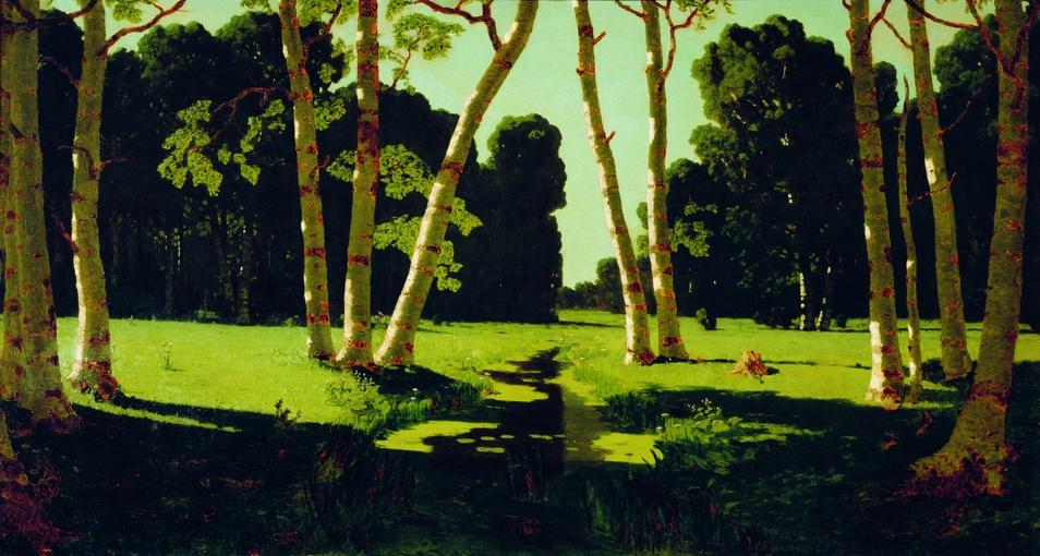 """Birch Grove"" 1879 Arkhip Kuindzhi"