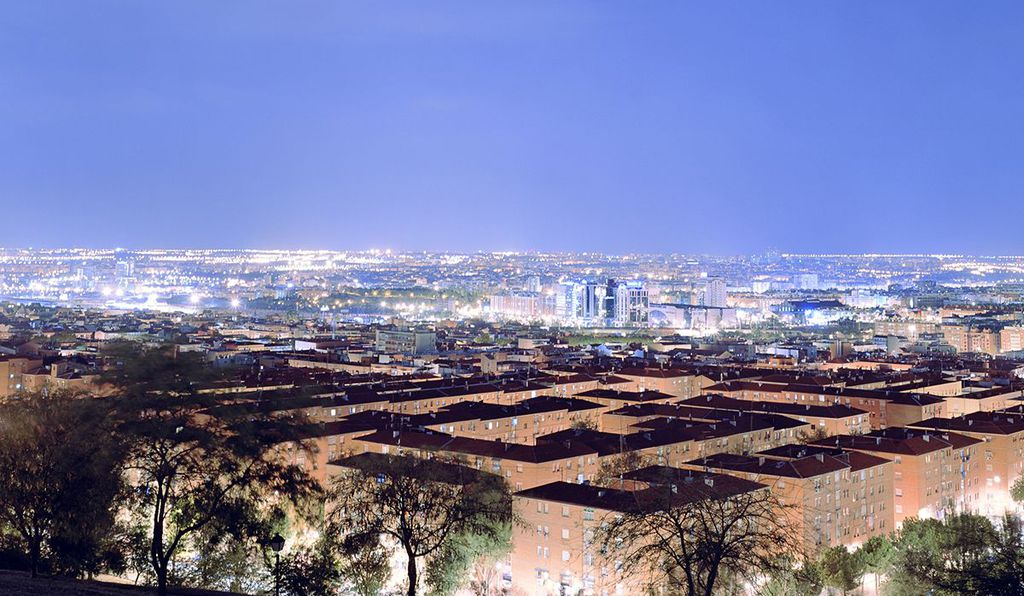 ​Lux: Metropolis 40° 25' N 3° 41' W (Madrid), 48x60 inches, Lightjet Print, 2005-2010
