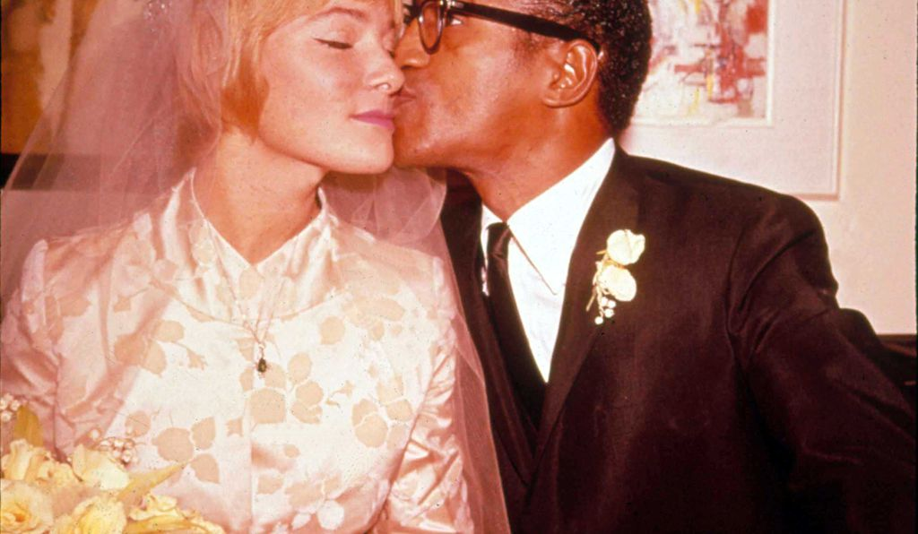 Sammy Davis Jr. portrait With May Britt