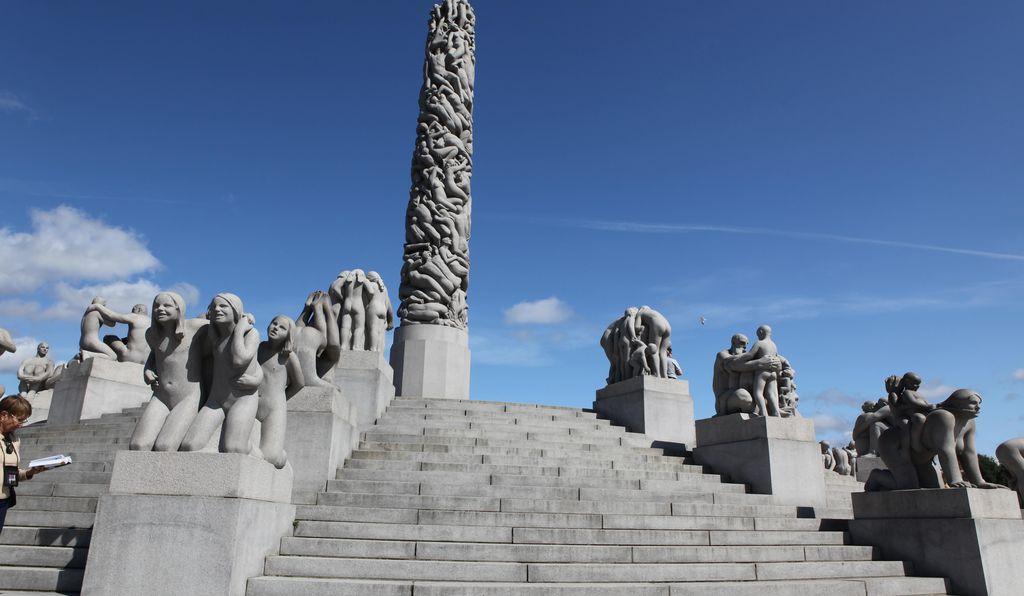 Adjacent to Vigeland Museum sits Frogner Park, home to more than 200 sculptures by sculptor Gustav Vigeland.