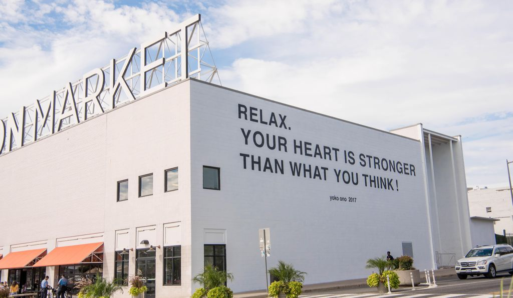 Like other Ono billboards worldwide, this one at Washington, D.C.'s Union Market was meant to send a message.