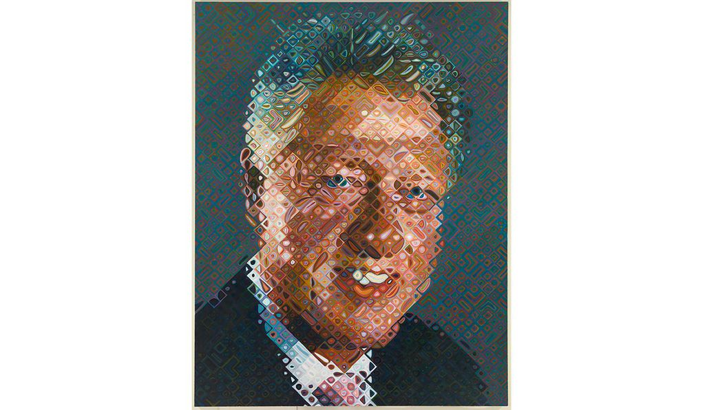 <em>Bill Clinton</em> by Chuck Close, 2006