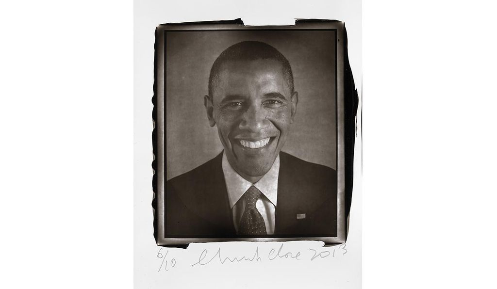 <em>Barack Obama</em> by Chuck Close, 2013