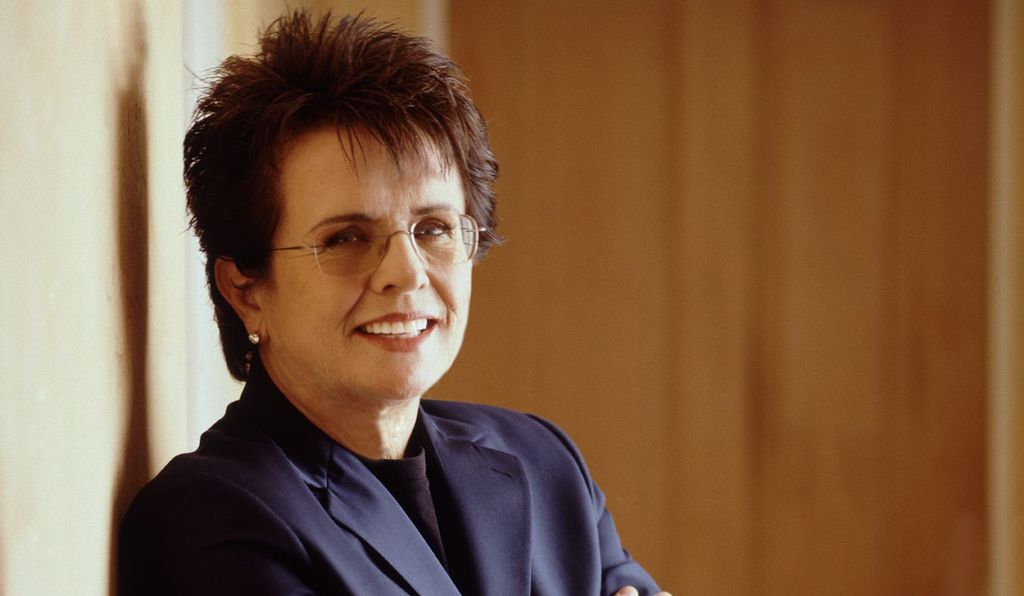 """I feel the true story is much more fascinating and Billie Jean King's (above, today) heroism is much more real,"