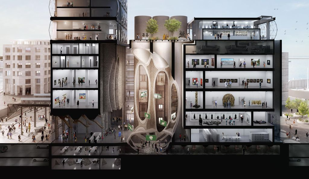 A rendering of the interior of the Zeitz MOCAA.