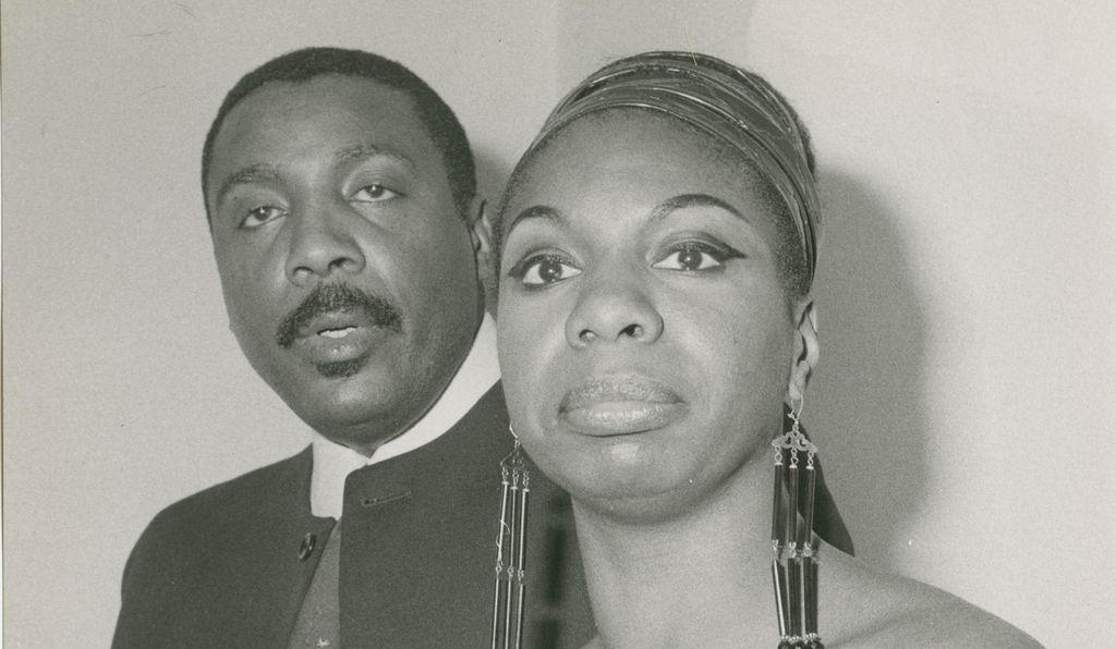 Nina Simone and socially conscious comedian Dick Gregory, 1968.