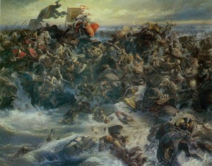 Battle on the Ice. Artist V.Nazaruk. 1982