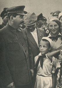 I.V. Stalin among children at the Tushino airfield. the year 1936.
