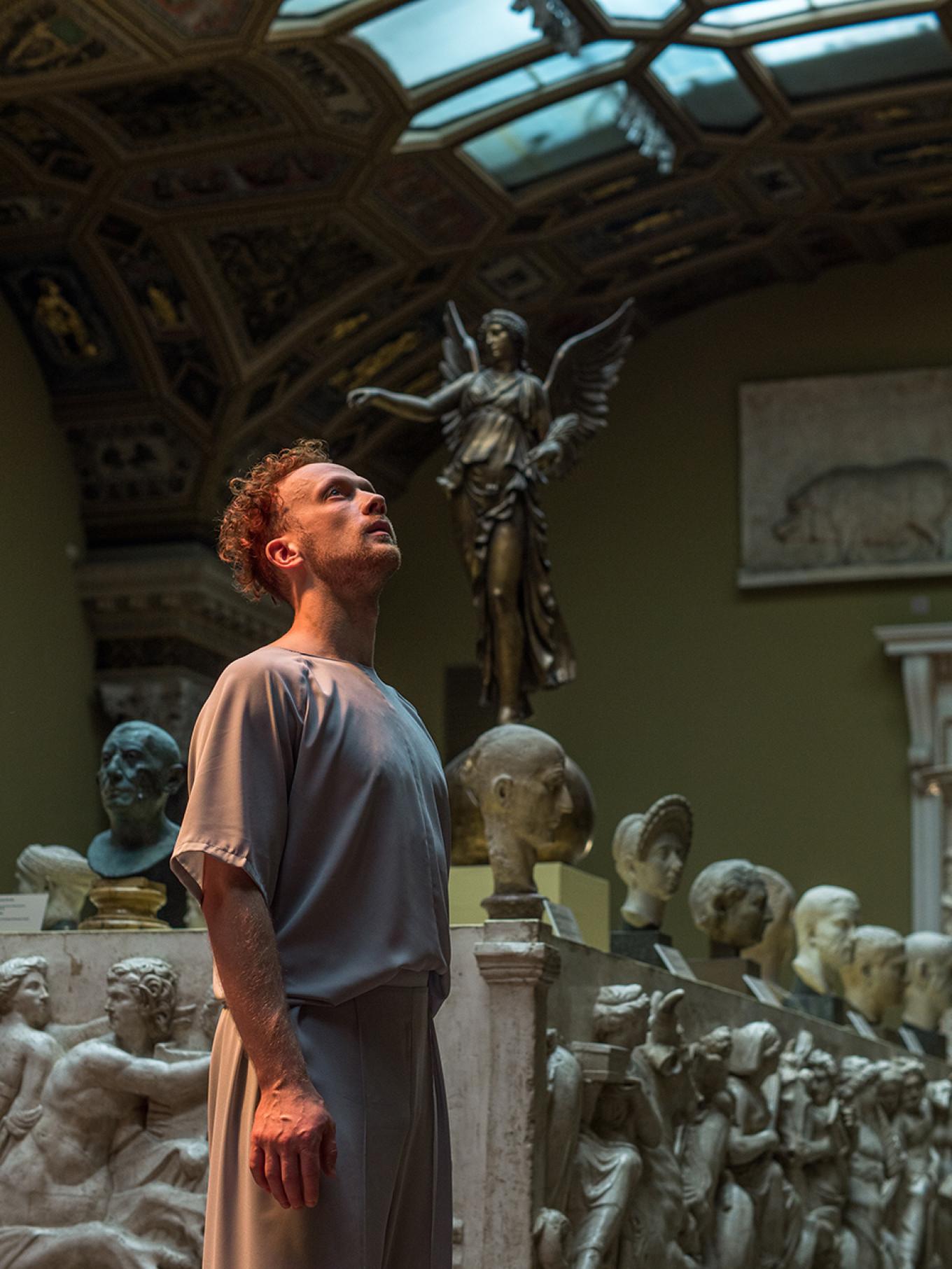 Dancer Ivan Sachkov in the Ancient Rome hall, choreographed by Andrei Korolenko. Julia Kuzkina